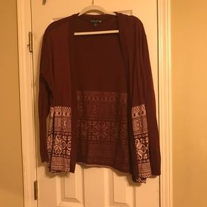 Pretty Maroon Cardigan